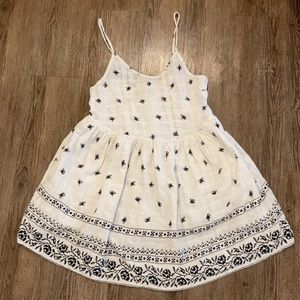Molly green white cotton lace floral dress